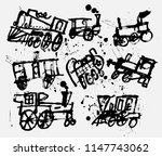 symbolic image of old steam...   Shutterstock .eps vector #1147743062