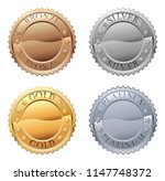 A Medals Icon Set With Platinu...