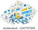 business creative idea concept  ... | Shutterstock .eps vector #1147757345