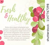 card of cranberry on light... | Shutterstock .eps vector #1147767398