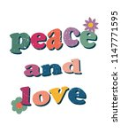 peace and love hippie t shirt... | Shutterstock .eps vector #1147771595