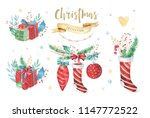 merry christmas and happy new... | Shutterstock . vector #1147772522