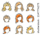 collection of women faces ... | Shutterstock .eps vector #1147776275