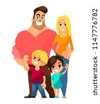 happy family with children... | Shutterstock .eps vector #1147776782