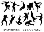 a set of male street dance hip... | Shutterstock .eps vector #1147777652