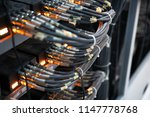 network panel  switch and cable ... | Shutterstock . vector #1147778768