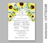 yellow sunflower rustic... | Shutterstock .eps vector #1147782188