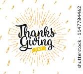 thanksgiving day. logo  text... | Shutterstock .eps vector #1147784462