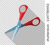 open scissors icon in flat... | Shutterstock .eps vector #1147785452