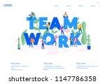 vector business illustration ... | Shutterstock .eps vector #1147786358