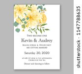 floral wedding invitation... | Shutterstock .eps vector #1147788635
