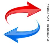 red and blue arrows. back and... | Shutterstock .eps vector #1147790582