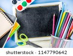 back to school background with... | Shutterstock . vector #1147790642