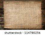 burlap jute canvas vintage... | Shutterstock . vector #114780256