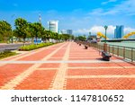 riverfront promenade in danang... | Shutterstock . vector #1147810652