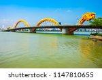 danang dragon bridge through... | Shutterstock . vector #1147810655