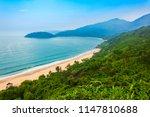 beauty bay beach aerial... | Shutterstock . vector #1147810688