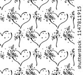 hand drawn seamless pattern ... | Shutterstock . vector #1147811915