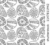 seamless decorative hand drawn... | Shutterstock . vector #1147811942