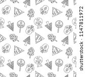 hand drawn seamless pattern ... | Shutterstock . vector #1147811972