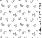 hand drawn seamless pattern ... | Shutterstock . vector #1147811978