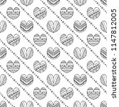 hand drawn seamless pattern ... | Shutterstock . vector #1147812005