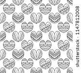 hand drawn seamless pattern ... | Shutterstock . vector #1147812008