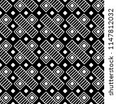 seamless pattern. black and... | Shutterstock . vector #1147812032