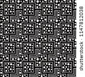 seamless pattern. black and... | Shutterstock . vector #1147812038