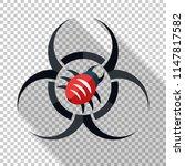 biohazard virus icon in flat... | Shutterstock .eps vector #1147817582
