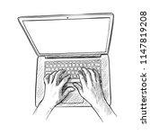 sketch illustration of a man... | Shutterstock .eps vector #1147819208