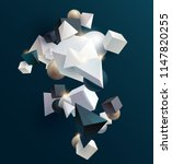 3d geometric shapes | Shutterstock .eps vector #1147820255
