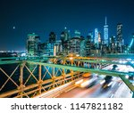 brooklyn bridge new york...   Shutterstock . vector #1147821182