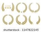 laurel wreaths vector.set of... | Shutterstock .eps vector #1147822145