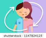 transgender and transsexual... | Shutterstock .eps vector #1147824125