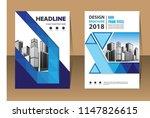 blue flyer business template ... | Shutterstock .eps vector #1147826615