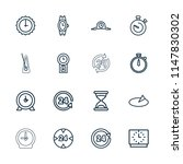 clock icon. collection of 16... | Shutterstock .eps vector #1147830302