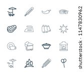 hot icon. collection of 16 hot... | Shutterstock .eps vector #1147830962