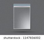 transparent nylon or... | Shutterstock .eps vector #1147836002