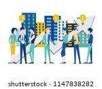 group of people characters... | Shutterstock .eps vector #1147838282