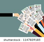 applying for job  giving cv ... | Shutterstock .eps vector #1147839185