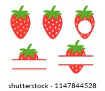 strawberry icon. red strawberry ... | Shutterstock .eps vector #1147844528