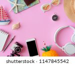 top view travel concept with... | Shutterstock . vector #1147845542