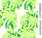 tropical pattern. seamless... | Shutterstock .eps vector #1147848032