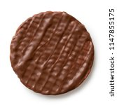 whole chocolate rice cake... | Shutterstock . vector #1147855175