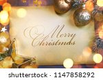 christmas and new year holidays ... | Shutterstock . vector #1147858292