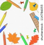 back to school template design   Shutterstock . vector #114786055