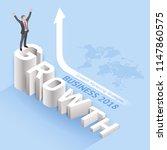 business growth marketing... | Shutterstock .eps vector #1147860575