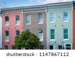 colorful row houses in federal... | Shutterstock . vector #1147867112