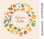 abstract autumn sales poster...   Shutterstock .eps vector #1147870148